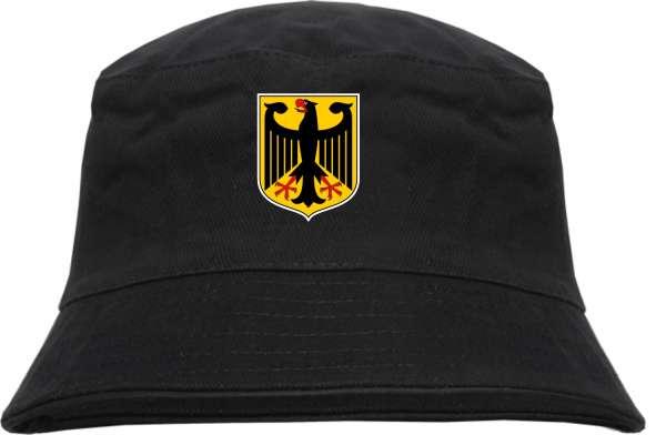 Deutschland Fischerhut mit Wappen +++ schwarz