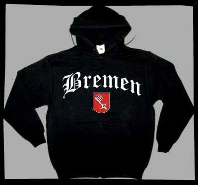 Bundesland: BREMEN Sweatshirt + schwarz mit Wappen
