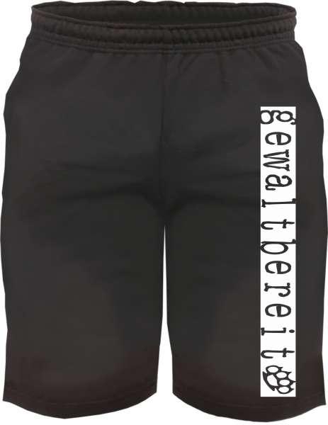 Sweatshorts - Gewaltbereit - Kurze Jogginghose