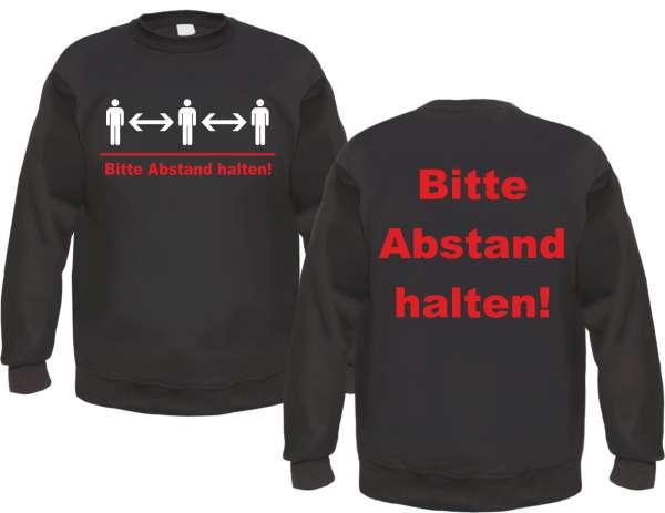 Bitte Abstand halten - Sweatshirt - Schwarz