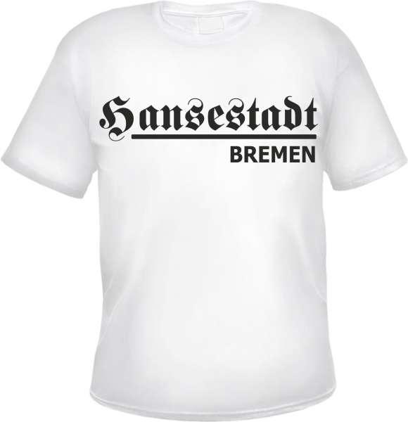 Hansestadt Bremen T-Shirt + Weiss + versch. Druckfarben