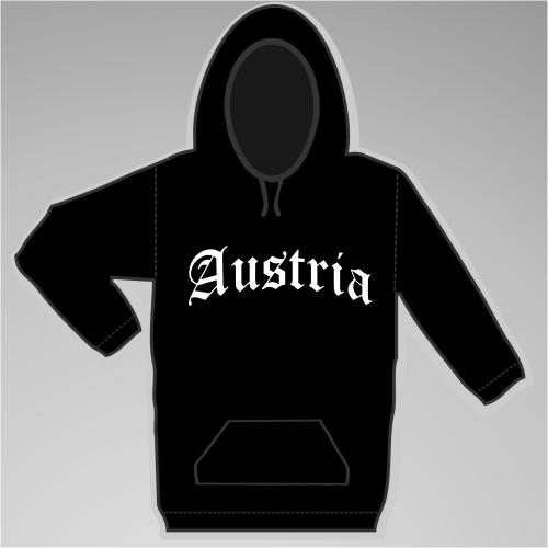 Austria Sweatshirt Altdeutsch +++ schwarz/weiss