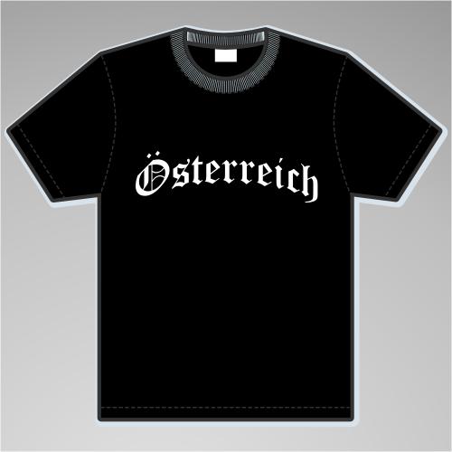 Österreich T-Shirt Altdeutsch +++ schwarz/weiss