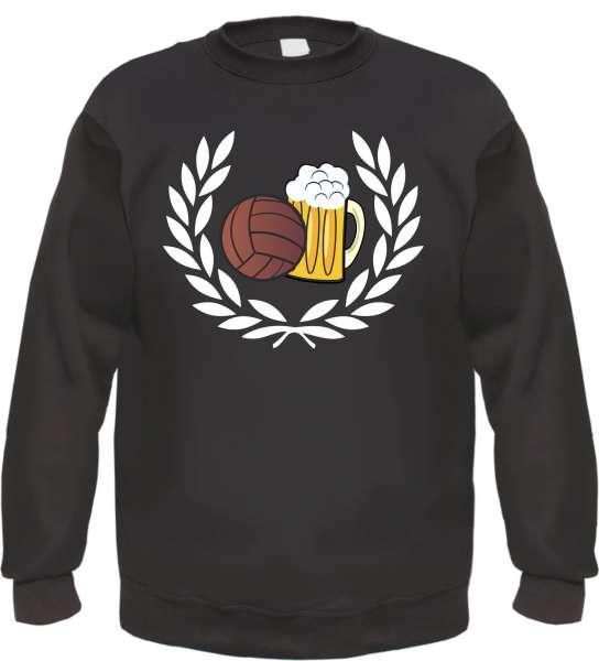 Lorbeerkranz Fussball Bier Sweatshirt - Schwarz