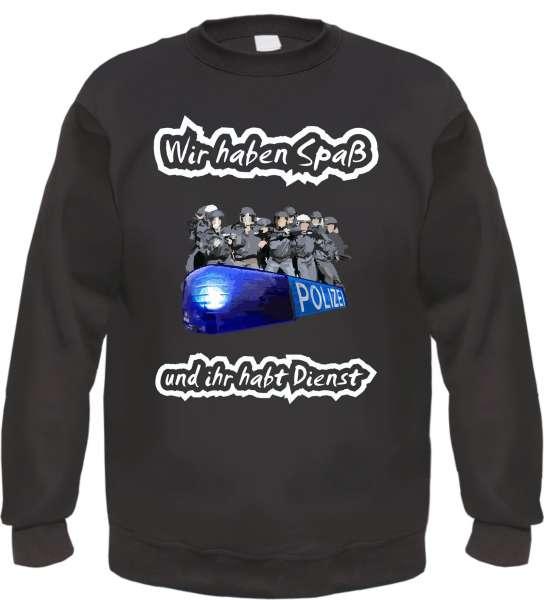 Wir haben Spass Sweatshirt - Schwarz - Mehrfarbiger Druck