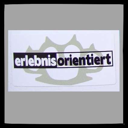 ERLEBNISORIENTIERT Aufkleber / Sticker