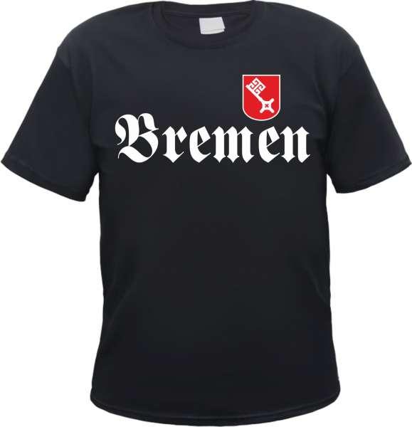 BREMEN T-Shirt FRAKTUR mit Wappen + schwarz/weiss-rot
