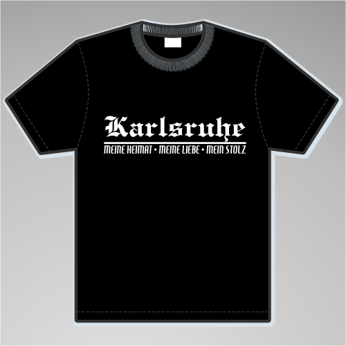 KARLSRUHE T-Shirt + Meine Heimat + versch. Farben
