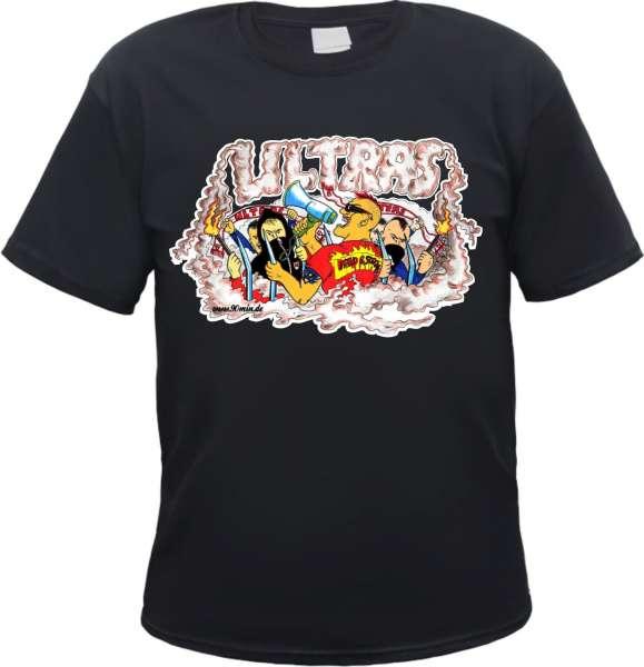 Ultras T-Shirt + COMIC + schwarz