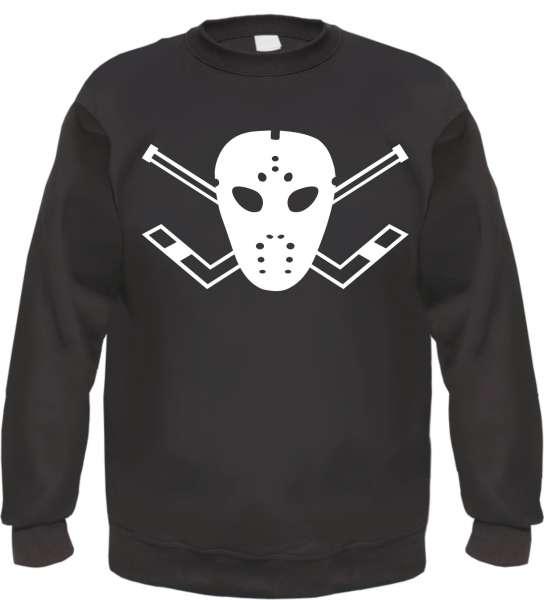 Eishockey-Maske Sweatshirt - Schwarz - Mit SOS Logo