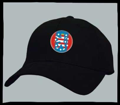 Bundesland: THÜRINGEN Kappe/Cappy + schwarz mit Wappen