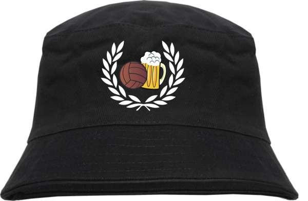 Lorbeerkranz Fussball Bier Fischerhut - Bestickt - Bucket Hat