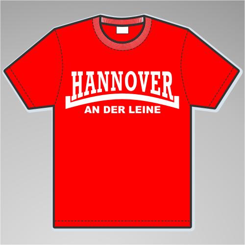 HANNOVER An der Leine T-Shirt + Linie + rot/weiss