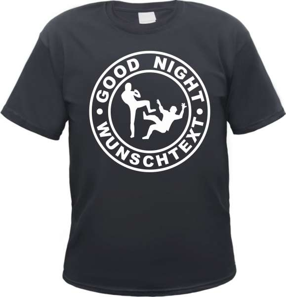 Good Night T-Shirt - Individuell mit Wunschtext
