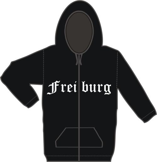FREIBURG Kapuzen-Jacke + Altdeutsch + schwarz