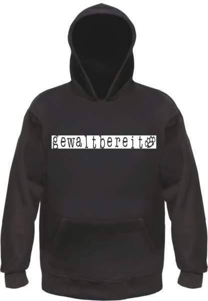 GEWALTBEREIT Sweatshirt - Schwarz/Weiss