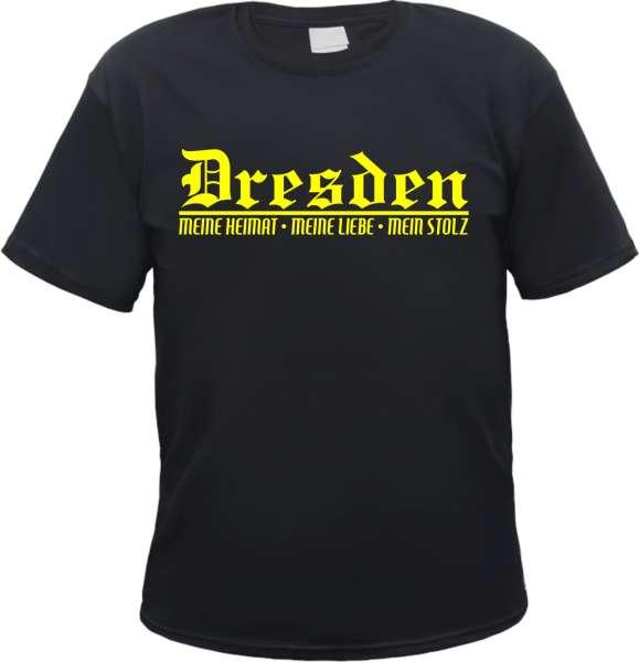 DRESDEN T-Shirt + Meine Heimat + schwarz