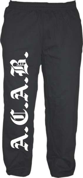 Jogginghose A.C.A.B. +++ schwarz/weiss