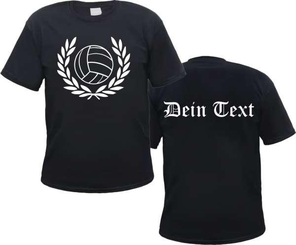 Individuelles T-Shirt - Lorbeerkranz mit Fussball - Wunschtext