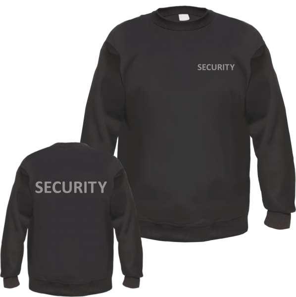SECURITY Sweatshirt - Druck Reflektierend oder Weiss