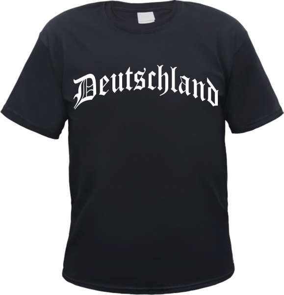 Deutschland T-Shirt Altdeutsch +++ schwarz/weiss
