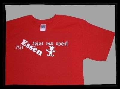 ESSEN T-Shirt + Mit Essen spielt man nicht! +++ rot/weiss