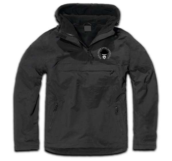 Windbreaker Jacke - Sieg oder Spielabbruch Logo - Schwarz