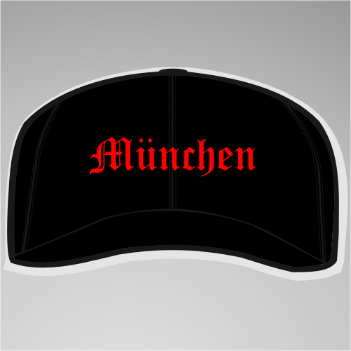 MÜNCHEN Cappy + Altdeutsch + schwarz