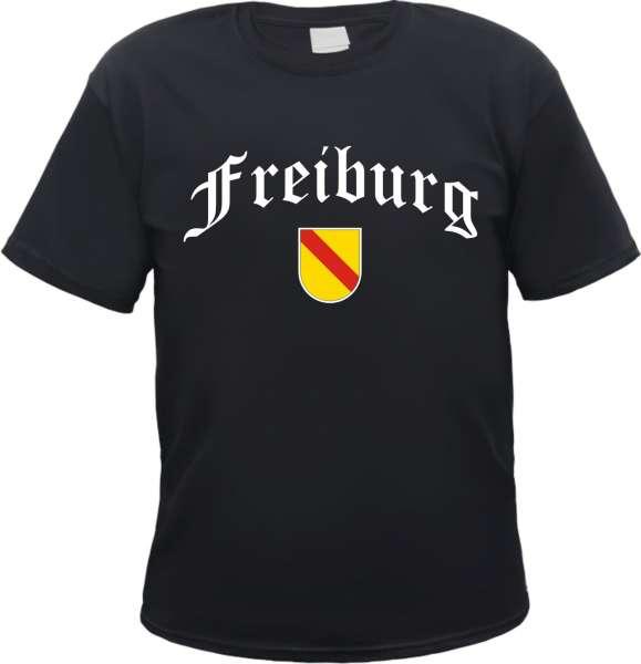 FREIBURG T-Shirt - Altdeutsch mit Baden Wappen
