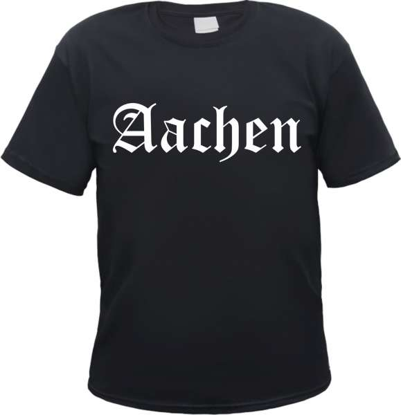 AACHEN T-Shirt + Altdeutsch + schwarz