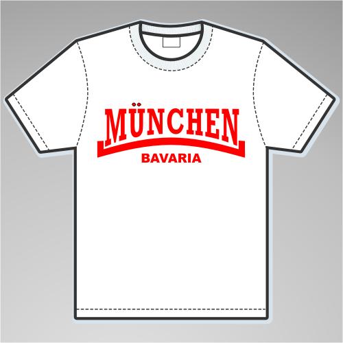 MÜNCHEN Bavaria T-Shirt + Linie + versch. Farben