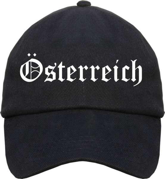 Österreich Cap - Altdeutsch - Schwarze Schirmmütze