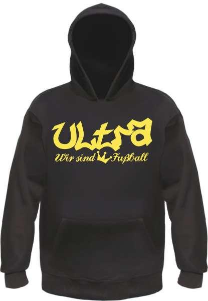 Ultra - König Fussball Sweatshirt +++ schwarz/gold