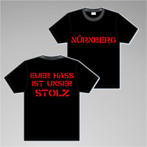 NÜRNBERG T-Shirt + EUER HASS + schwarz/rot