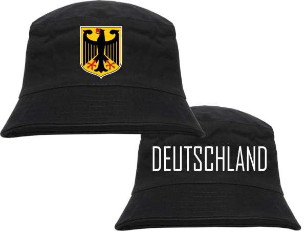 Deutschland Fischerhut - Wappen und Text - Bucket Hat