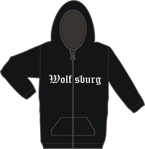 WOLFSBURG Kapuzen-Jacke + Altdeutsch + schwarz