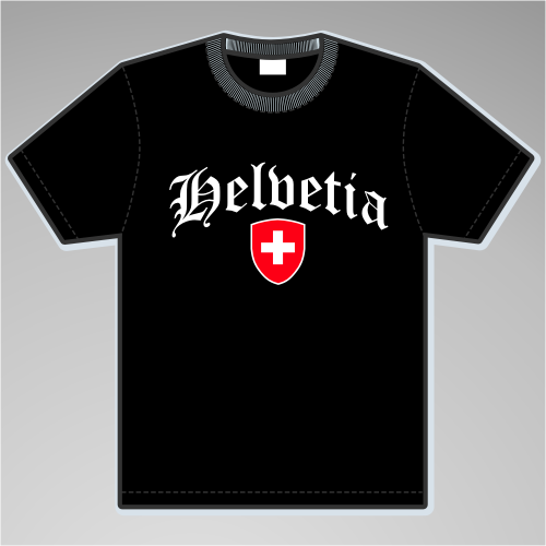 Helvetia T-Shirt mit Wappen +++ schwarz