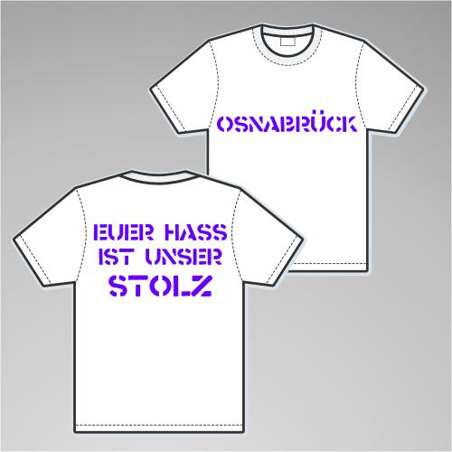 OSNABRÜCK T-Shirt + EUER HASS + weiss/lila