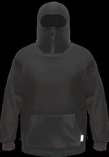 NINJA Hoodie / Sweatshirt - Schwarz - ohne Aufdruck