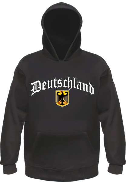 Deutschland Sweatshirt - Altdeutsch / Wappen - Schwarz