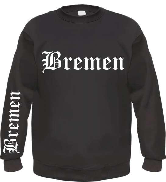 BREMEN Sweatshirt + Altdeutsch + FÄN + schwarz