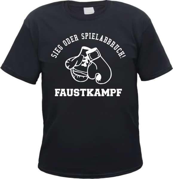 Sieg oder Spielabbruch T-Shirt - Faustkampf - Schwarz
