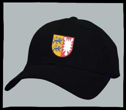 Bundesland: SCHLESWIG-HOLSTEIN Kappe/Cappy + schwarz mit Wappen