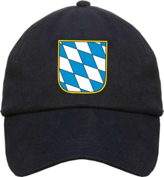 Bundesland: BAYERN Cappy + schwarz mit Wappen