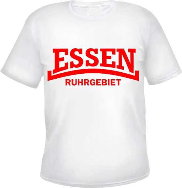 ESSEN Ruhrgebiet T-Shirt - Linie - Weiss/Rot