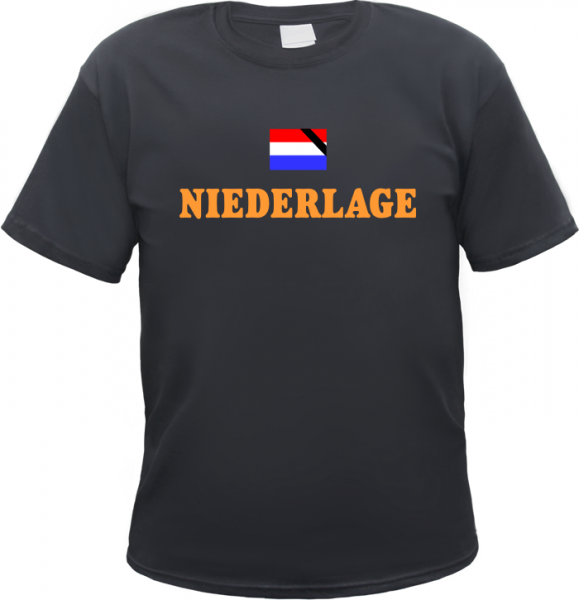 NIEDERLAGE Holland T-Shirt + schwarz/orange