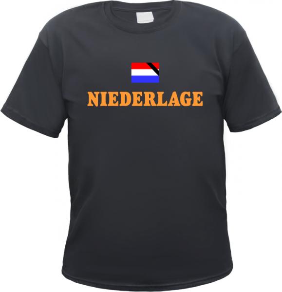 NIEDERLAGE Holland T-Shirt + schwarz/orange