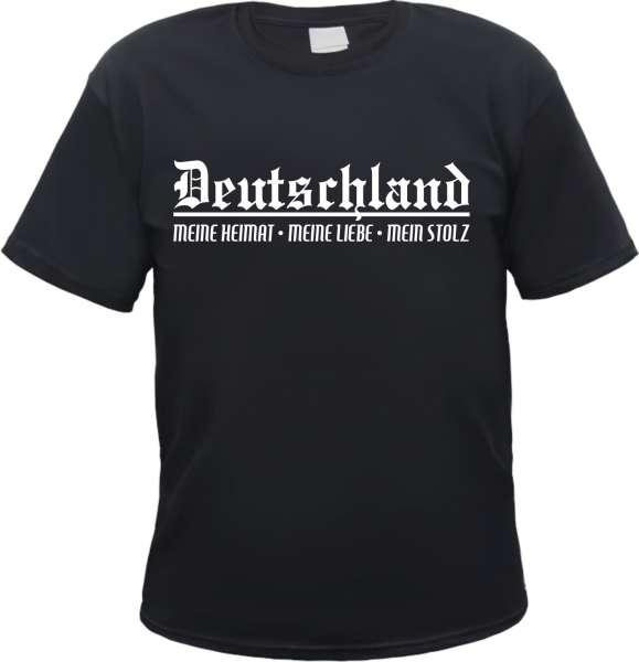 Deutschland T-Shirt - Meine Heimat - Schwarz