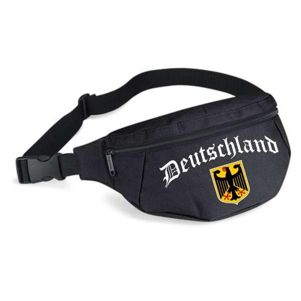 Deutschland Bauchtasche - Altdeutsch mit Wappen - Schwarz