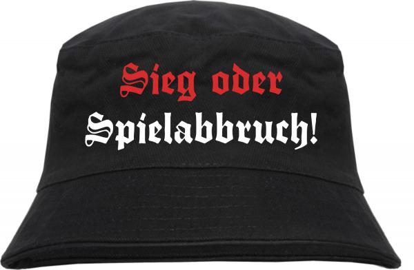 Sieg oder Spielabbruch Fischerhut - Altdeutsch - Schwarz
